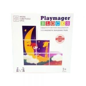 פליימאגר 6 קוביות פאזל חלומות – משחק מגנטים – מקורי!