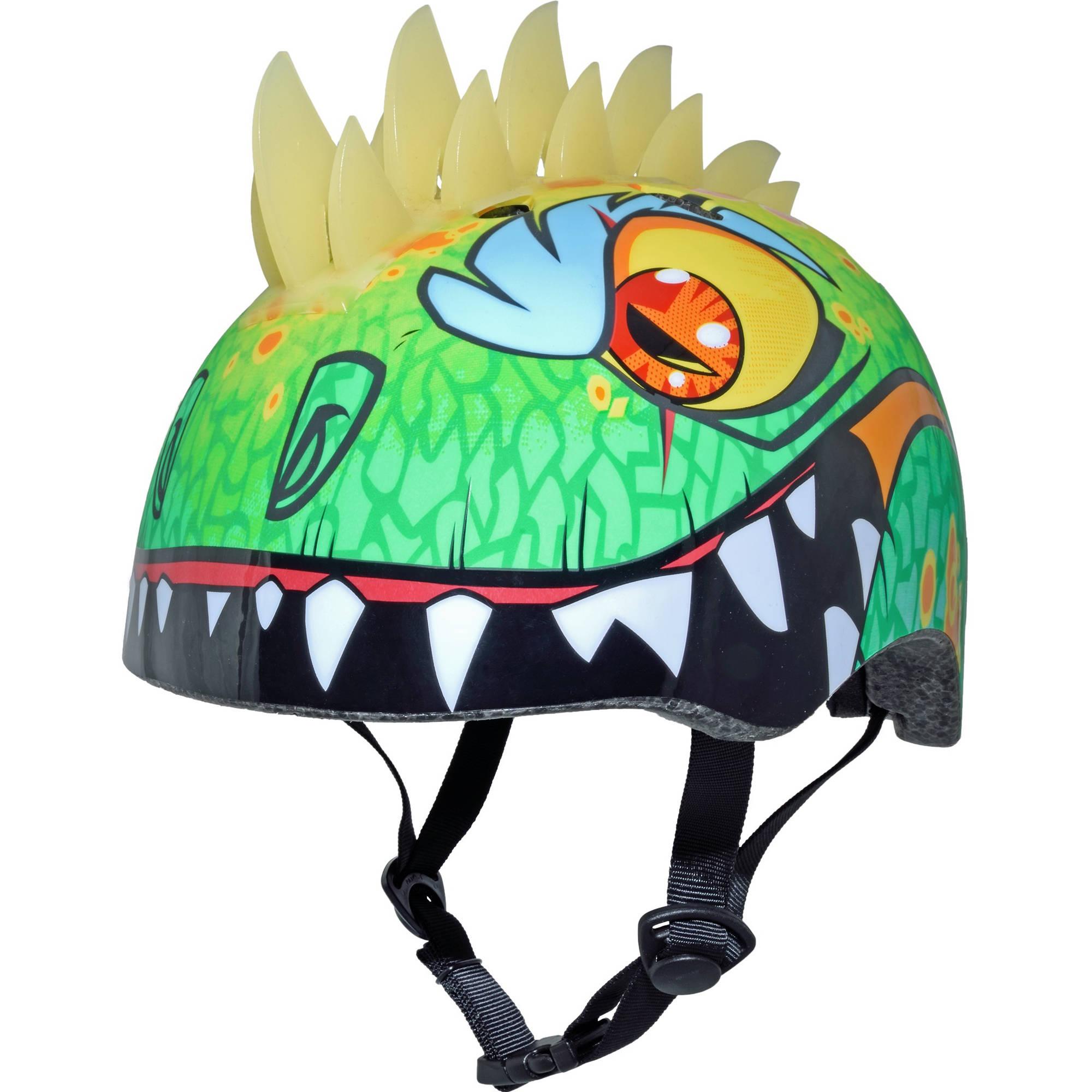 קסדה לילדים דרקון ירוק עם קוצים Raskullz