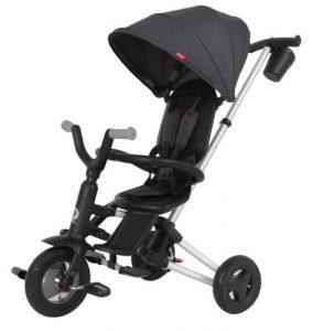 תלת אופן מתקפל עם כסא מסתובב לתינוקות QPLAY NOVA דגם נובה – שחור