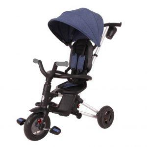 תלת אופן מתקפל עם כס מסתובב לתינוקות QPLAY NOVA דגם נובה – כחול כהה