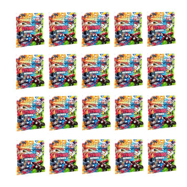 20 חבילות BRAWL STARS -  דמות הפתעה - מהדורה 8 החדשה!