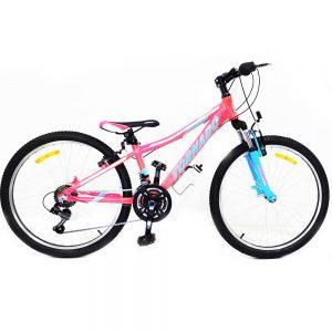 אופני אלומיניום לילדים ונוער – טורנדו הרים M7 ורוד זוהר