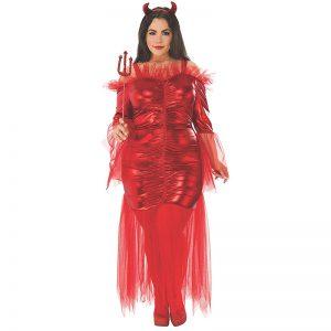 תחפושת שטנית אדומה לנשים מידות גדולות – פורים רוביס
