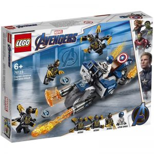 לגו גיבורי על – אופנוע קפטן אמריקה – 76123