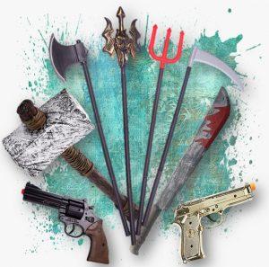 רובים חרבות ונשקים לפורים