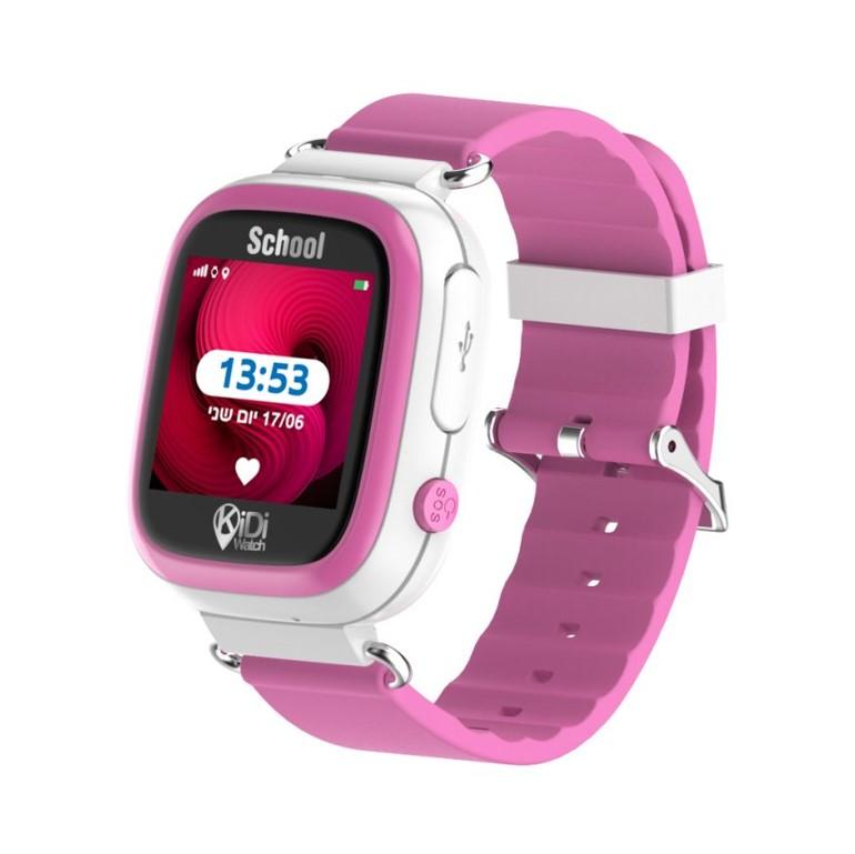 קידיוואצ' סקול שעון חכם מותאם לבית הספר – kidiwatch color ורוד