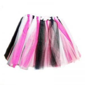 חצאית טוטו ורודה שחורה – פורים
