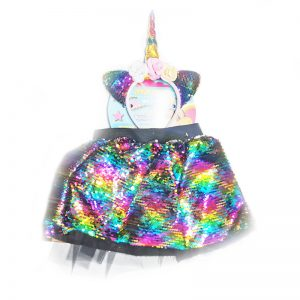 חצאית פייטים צבעונית עם קשת – פורים