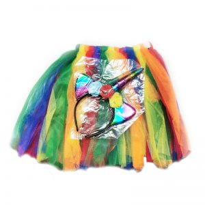 חצאית צבעונית עם קשת – פורים