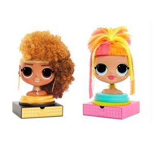 ראש בובה לעיצוב שיער L.O.L – לול בובות הפתעה