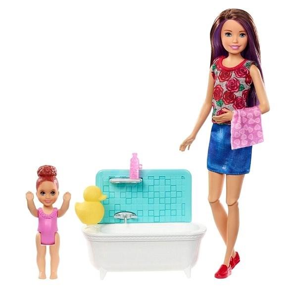 בובת ברבי בייביסיטר – תינוק באמבטיה