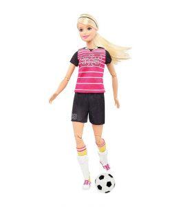 בובת ברבי ספורטאית – כדורגלנית