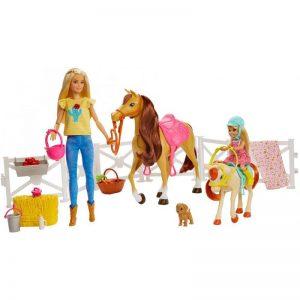 בובת ברבי רכיבה על סוסים