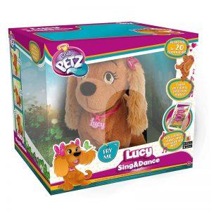 לוסי הכלבה החכמה! – שרה ורוקדת – כלבה על שלט