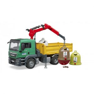 משאית מאן עם 3 מיכלי מחזור – BRUDER