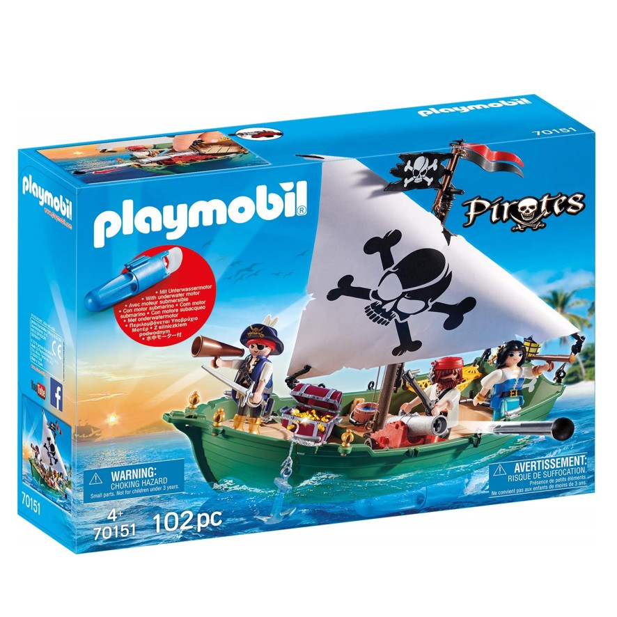 70151 סירת פיראטים עם מנוע תת מימי – פליימוביל