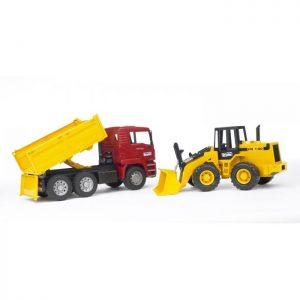 משאית MAN TGA גורר + FR130 טרקטור – BRUDER