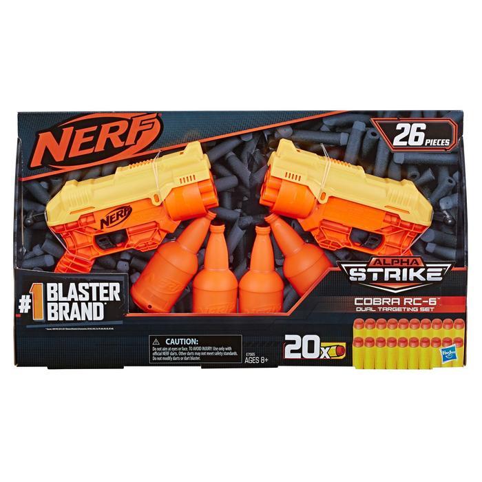 זוג אקדחי נרף עם מטרות בקבוק – NERF ALPHA-STRIKE COBRA RC-6