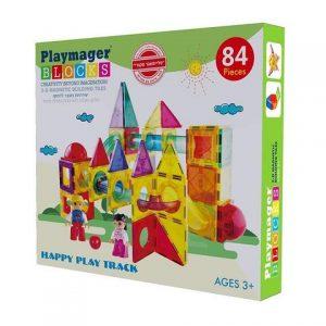 פליימאגר לונה פארק מגנטים 84 חלקים – משחקי מגנט