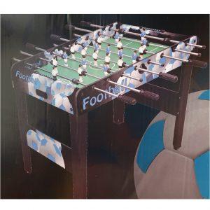 שולחן עץ כדורגל גדול עם רגליים