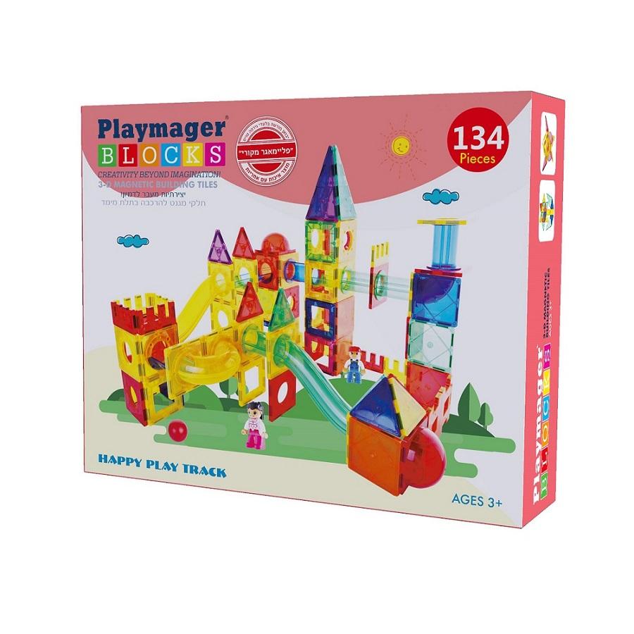 פליימאגר לונה פארק מגנטים 134 חלקים – משחקי מגנטים