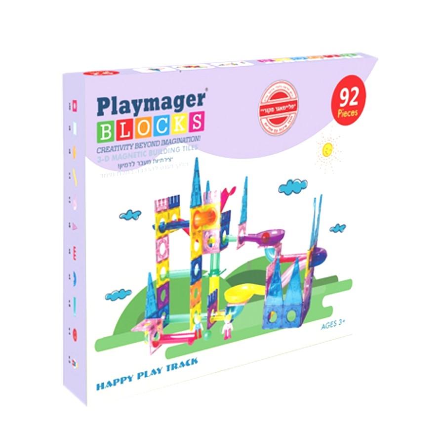 פליימאגר לונה פארק מגנטים 92 חלקים – משחקי מגנטים
