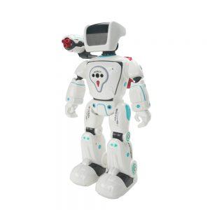 רובוט היברידי דובר עברית ויורה חיצים עם שלט