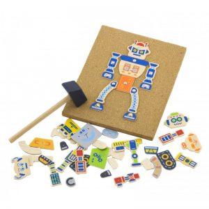 לוח יצירת רובוטים מעץ – ויגה