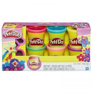 ערכת 6 בצקים נצנצים – פליידו Play-Doh