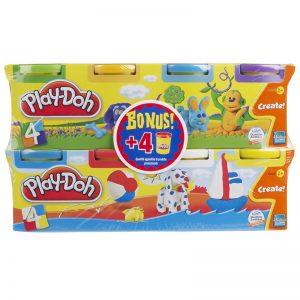 מארז בצק כפול 4+4 – פליידו Play-Doh