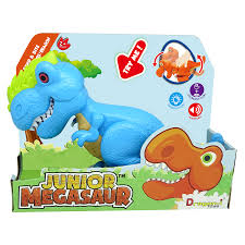 בובת דינוזאור כחול שואג