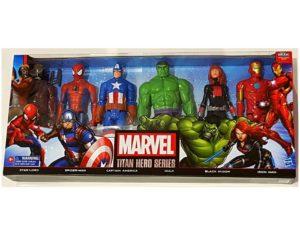 מארז 6 דמויות הנוקמים גיבורי על
