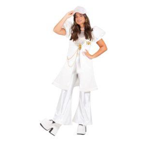 תחפושת נועה קירל חליפה לבנה מהודרת לילדות ונערות פורים שושי זוהר