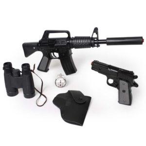 """סט כלי נשק ימ""""מ ממתכת פיקות 8 כלי נשק צעצוע לפורים"""
